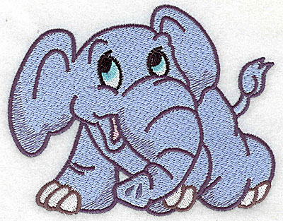 Embroidery Design: Elephant eyes wide open large 4.87w X 3.88h