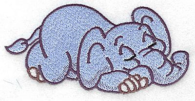 Embroidery Design: Elephant sleeping large 4.97w X 2.53h