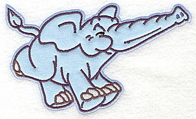Embroidery Design: Elephant running applique 6.54w X 3.91h
