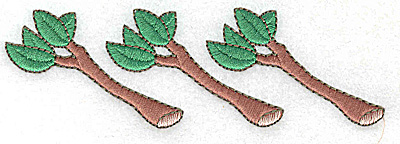 Embroidery Design: Tree Branches  4.96w X 1.56h