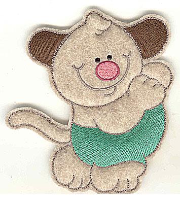Embroidery Design: Feltie Dog large 4.53w X 4.97h