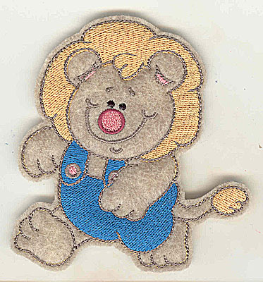 Embroidery Design: Feltie Lion small 3.56w X 3.80h