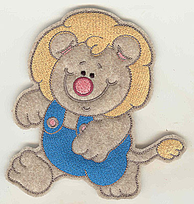 Embroidery Design: Feltie Lion large 4.62w X 4.93h