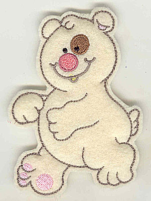 Embroidery Design: Feltie Bear small 2.89w X 3.85h