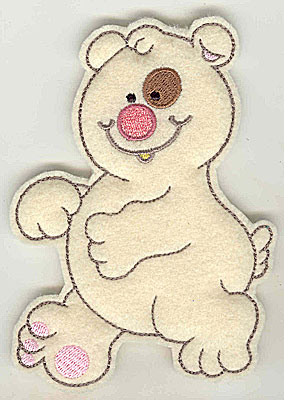 Embroidery Design: Feltie Bear large 3.71w X 4.94h