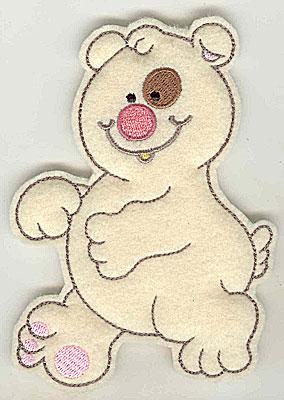 Embroidery Design: Feltie Bear large 3.71w X 4.94h