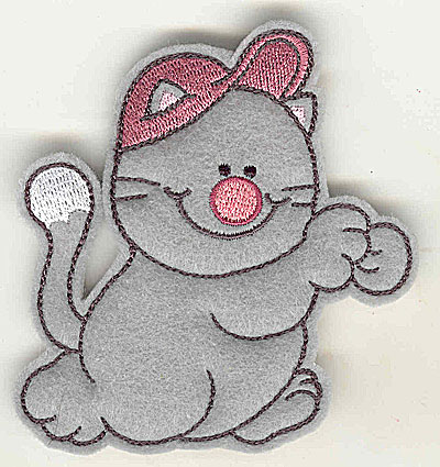 Embroidery Design: Feltie cat small 3.44w X 3.81h