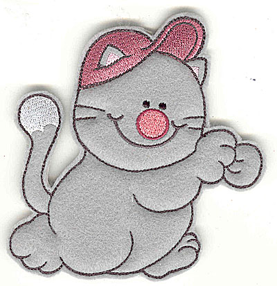 Embroidery Design: Feltie cat large 4.47w X 4.94h