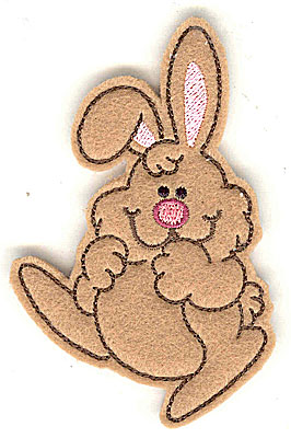 Embroidery Design: Feltie bunny small 2.43w X 3.86h