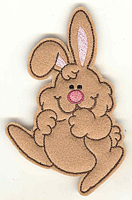 Embroidery Design: Feltie bunny large 3.12w X 4.96h