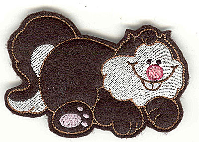 Embroidery Design: Feltie fat cat small 3.84w X 2.58h