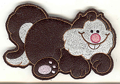 Embroidery Design: Feltie fat cat large 4.95w X 3.33h