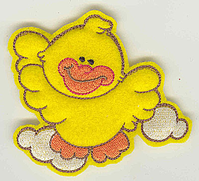 Embroidery Design: Feltie duck small 3.82w X 3.17h