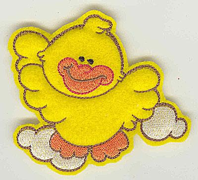 Embroidery Design: Feltie duck small 3.82w X 3.17h