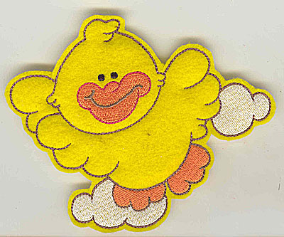 Embroidery Design: Feltie duck large 4.93w X 4.08h