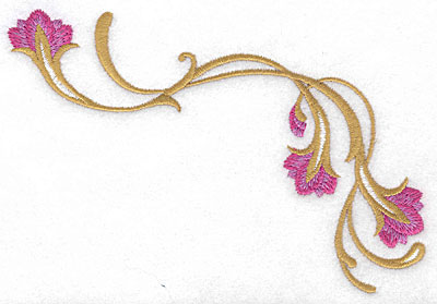 Embroidery Design: Floral fancy 5.69w X 4.07h