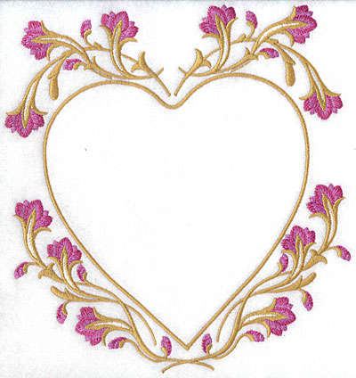 Embroidery Design: Floral heart  8.25w X 7.70h