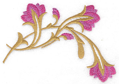 Embroidery Design: Flora drooping large 4.95w X 3.58h
