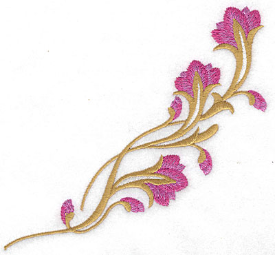 Embroidery Design: Floral branch large 5.76w X 5.29h