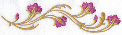 Embroidery Design: Floral wave large 9.05w X 2.34h