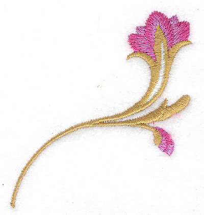 Embroidery Design: Flower A small 2.61w X 2.78h