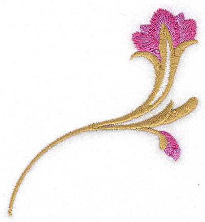 Embroidery Design: Flower A large 3.39w X 3.61h