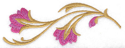 Embroidery Design: Flower C large 4.98w X 1.82h