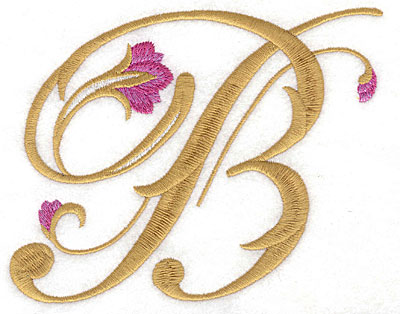 Embroidery Design: B Floral large 5.91w X 4.60h