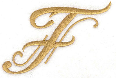 Embroidery Design: F large 3.55w X 2.87h
