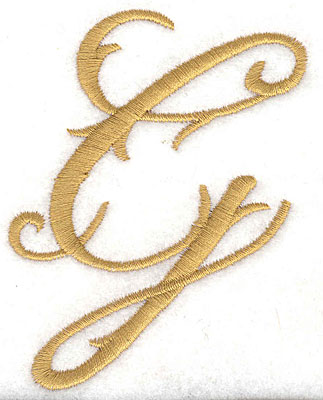 Embroidery Design: G large 2.67w X 3.60h