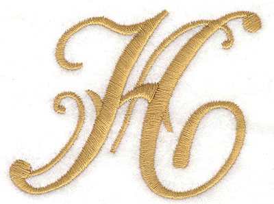 Embroidery Design: H large 3.30w X 2.58h