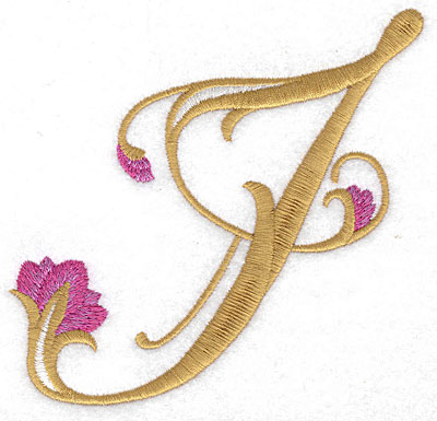 Embroidery Design: I Floral large 4.67w X 4.59h