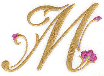 Embroidery Design: M Floral small 5.26w X 3.56h