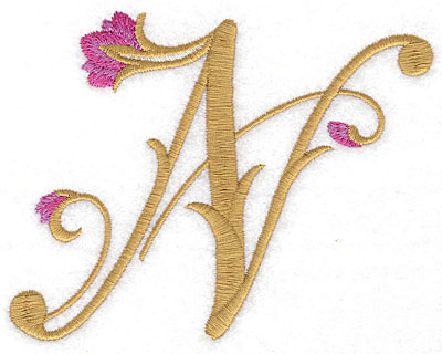 Embroidery Design: N Floral small 4.76w X 3.69h