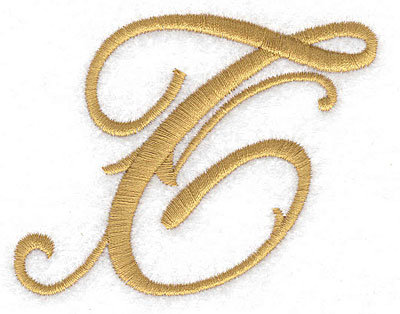 Embroidery Design: T large 3.28w X 2.58h
