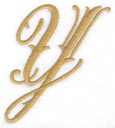 Embroidery Design: Y large 3.15w X 3.60h