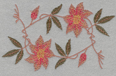 Embroidery Design: Flower 2 Blooms5.17w X 3.34h
