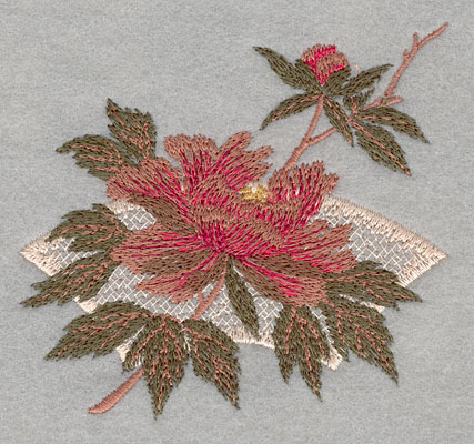 Embroidery Design: Flower Single Bloom with Pattern4.03w X 3.78h