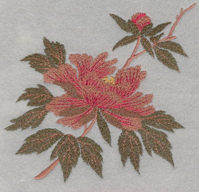 Embroidery Design: Flower Single Bloom Large6.00w X 5.67h