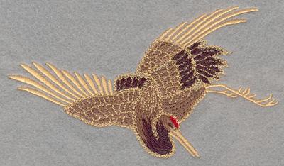 Embroidery Design: Crane Large6.00w X 3.40h