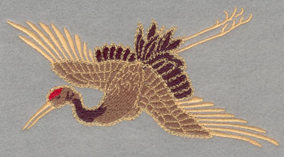Embroidery Design: Crane Flying Large6.01w X 3.12h