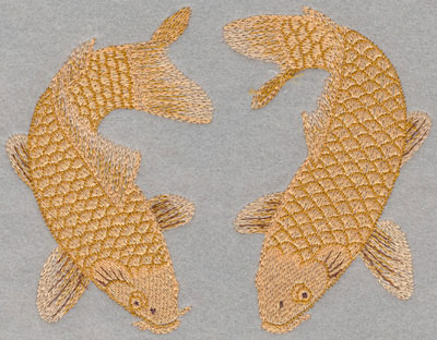 Embroidery Design: Double Koi Large6.13w X 4.73h
