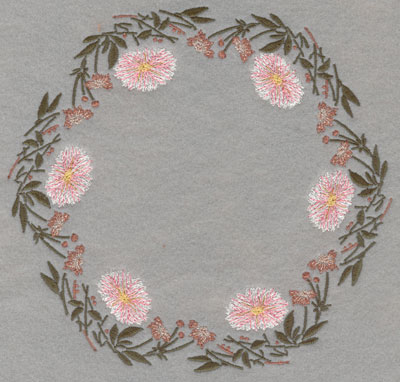 Embroidery Design: Circle of Flowers7.09w X 7.50h