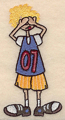 "Embroidery Design: Boy see no evil small 2.01""w X 3.89""h"