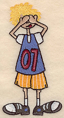 "Embroidery Design: Boy see no evil large 2.57""w X 4.99""h"