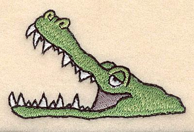"""Embroidery Design: Crocodile 3.00""""w X 1.86""""h"""