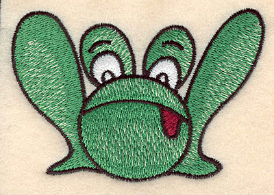 """Embroidery Design: Frog large 3.90""""w X 2.70""""h"""