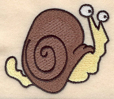 "Embroidery Design: Snail large 3.50""w X 2.93""h"