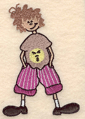 "Embroidery Design: Boy with hands in pockets small 2.65""w X 3.89""h"