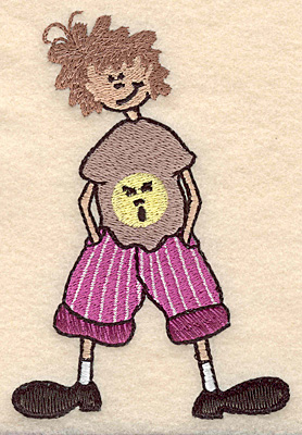 "Embroidery Design: Boy with hands in pockets large 3.39""w X 4.99""h"